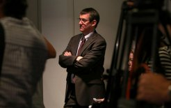 John McTernan, Parliament House, Canberra, 20 April 2012. © Penny Bradfield/Fairfax Syndication