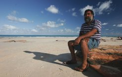 Goolarabooloo law man Joseph Roe on Cable Beach in Broome. © Simon Penn