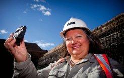 Gina Rinehart at the Alpha Coal Project, Central Queensland, 2011. © Patrick Hamilton