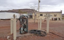 An abandoned cafe in the asbestos-riddled ghost town of Wittenoom, WA. Wikimedia Commons