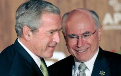 """Best friends"" George W Bush and John Howard, 8 September 2007. © Mick Tsikas/EPA/Corbis"