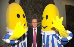 B1 and B2 with Mark Scott at Parliament House, 2009. © Mark Graham. Image courtesy of the ABC.