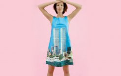 Sarah Caplan's World Trade Center dress. © MPH Design