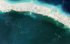 Lines in the sand. Mischief Reef, Spratly Islands, June 2015