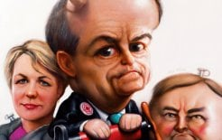 Tanya Plibersek, Bill Shorten and Anthony Albanese. © Neil Moore