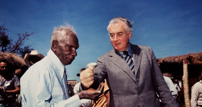 Surveying the scene. Mervyn Bishop